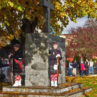 2963 Seaforth Cadets at the Cenotaph in Sechelt