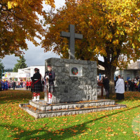 The Sechelt Cenotaph on Rememberance Day