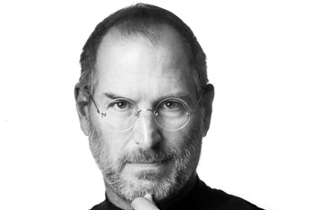Steve Jobs Headshot from his memorial tribute on apple.com