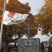 Cenotaph and Flag