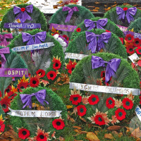 Ceremonial Wreaths at the Cenotaph