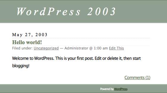 WordPress Era 2003