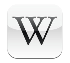 Icon on the Wikipedia App for the iPhone