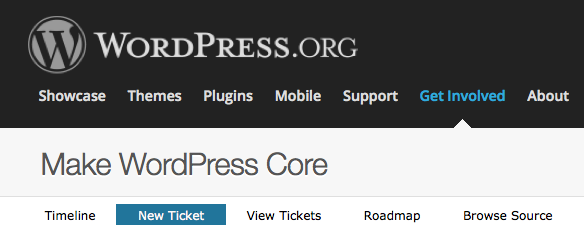 Screenshot of Make WordPress Core