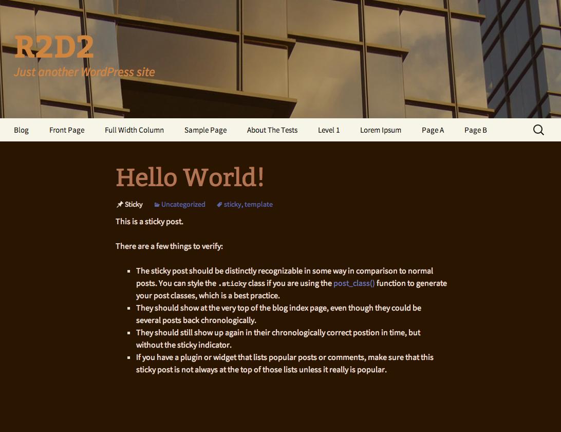 The R2D2 WordPress Child Theme coming soon to a WordPress theme repo near you.