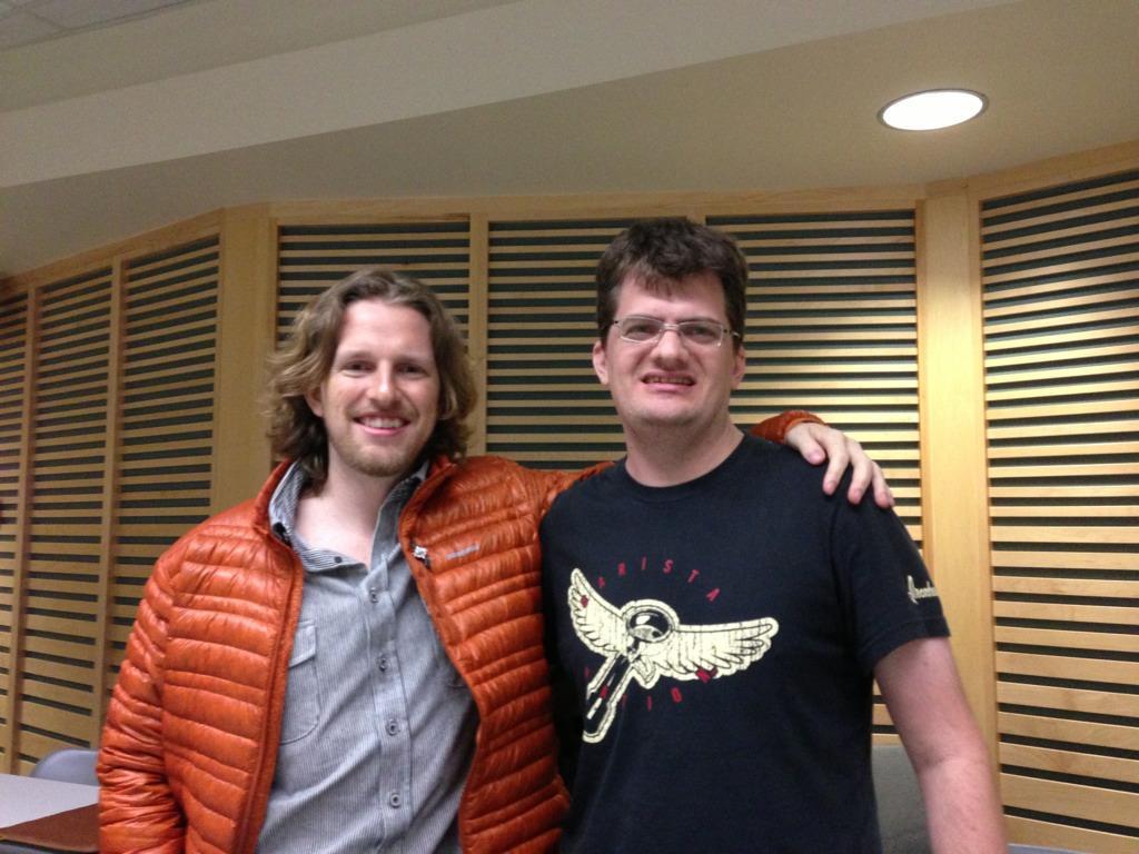 Photo of Robert Dall and Matt Mullenweg