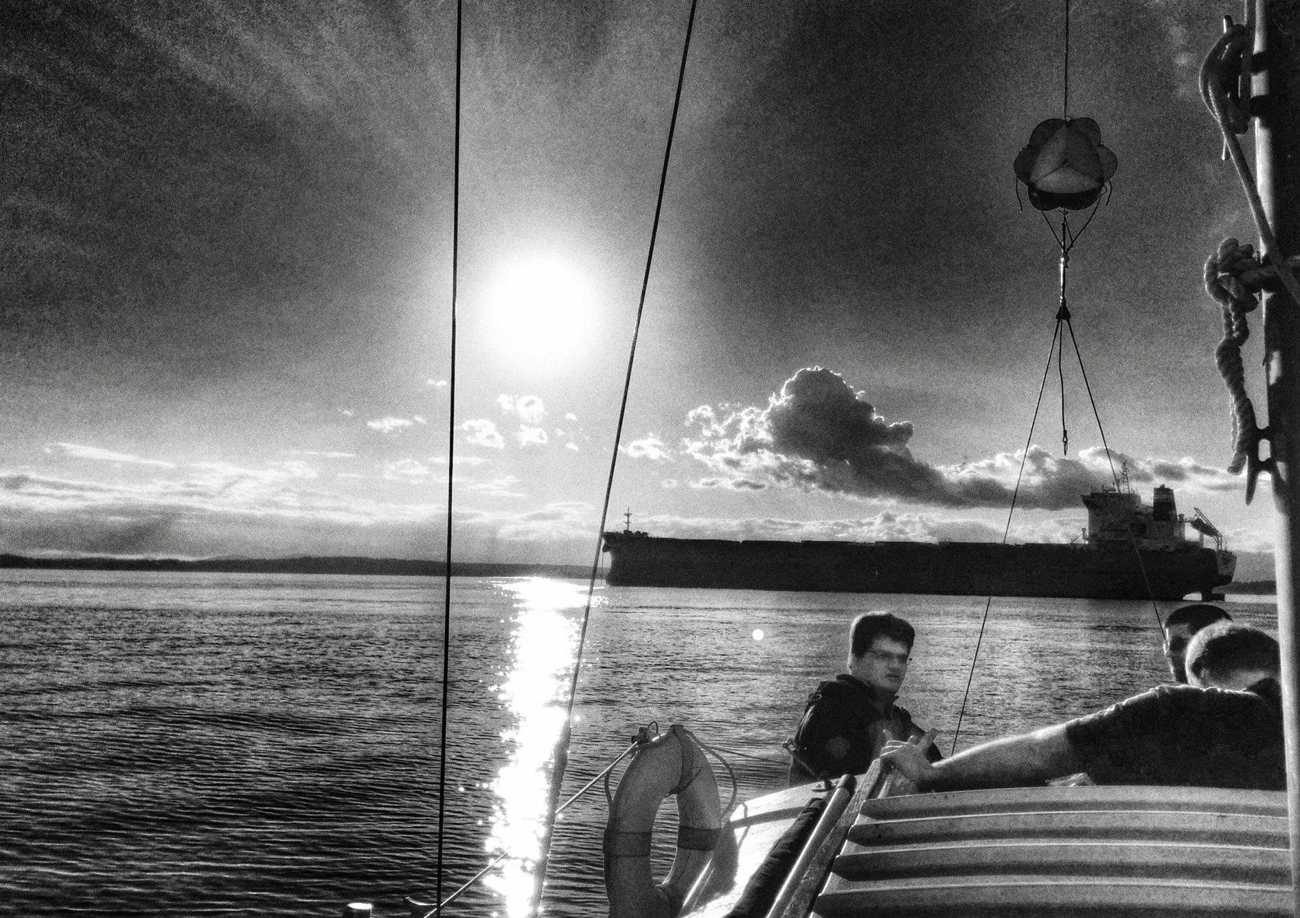 Elliot Bay, Seattle sailing. Photo by Jason Alexander
