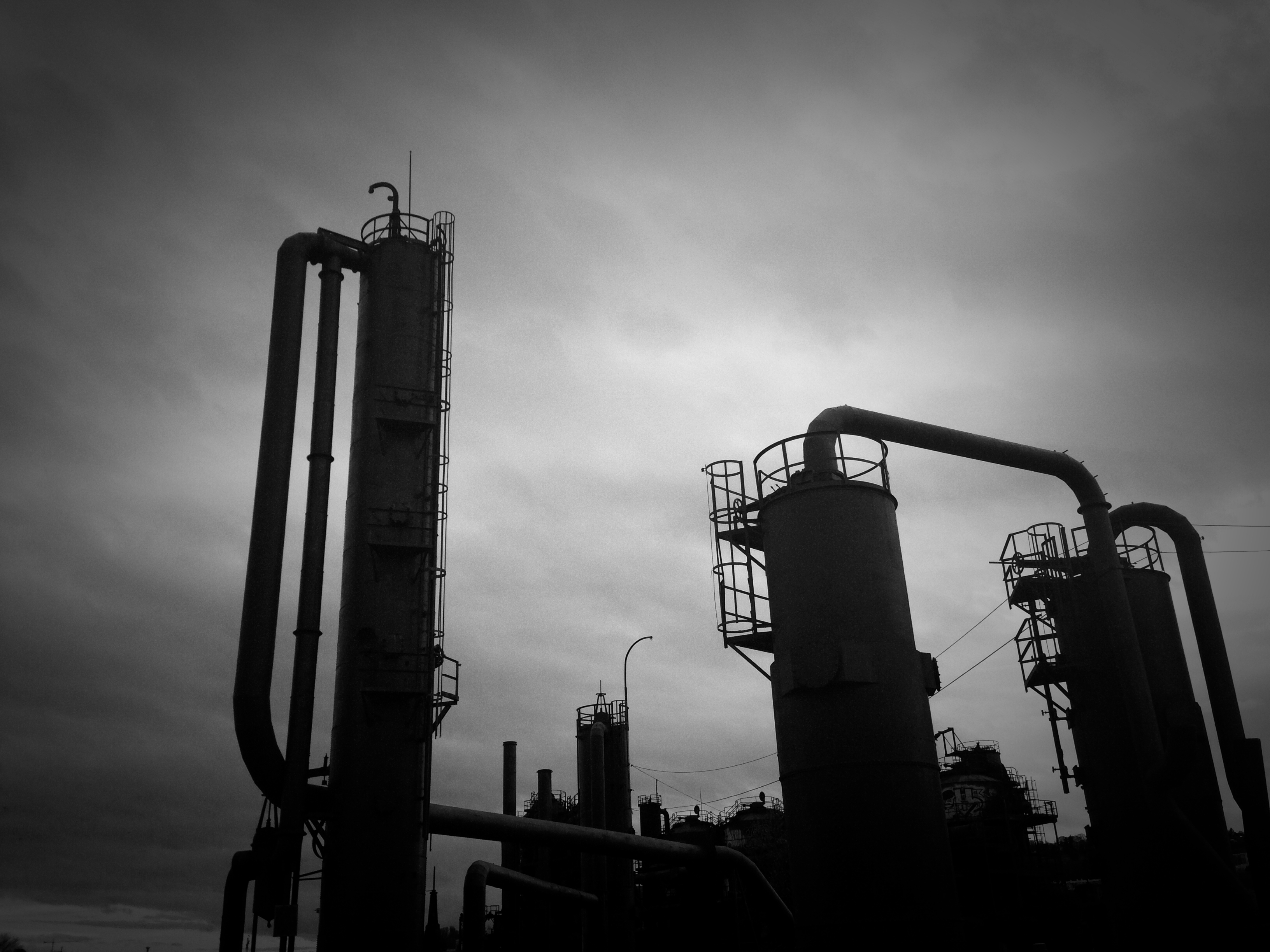 Gas Works Park on a cloudy lazy but beautiful early evening in Seattle Washington, April 6, 2013