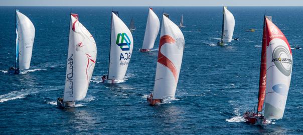 Volvo Ocean Race 2014 Fleet Credit: David Ramos/Volvo Ocean Race