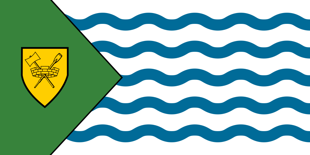 The Flag of Vancouver Canada. Adopted17 May 1983. Designed by Robert Watt