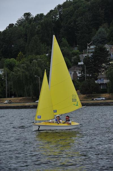 Sailboat used by the Footloose called a Access Dinghy