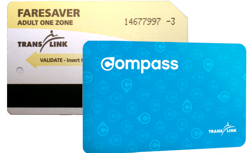 Compass Card and Faresavers