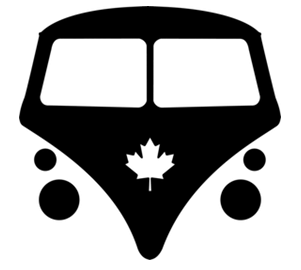 bus logo black on white