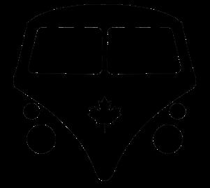 bus logo black on white